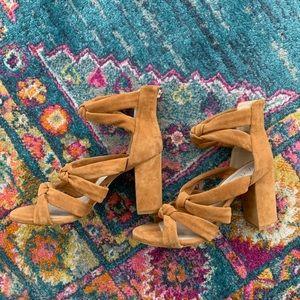 Raye Camel Suede Heels